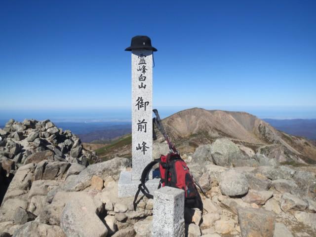 10月25日 霊峰白山御前峰