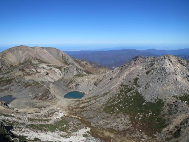 10月25日 御前峰から剣ヶ峰と大汝峰