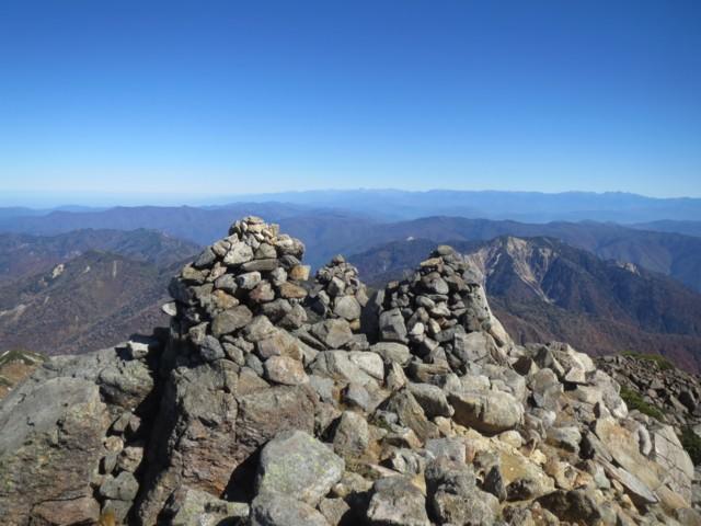 10月25日 剣ヶ峰から東側