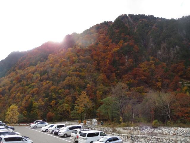 10月26日 紅葉は新穂高温泉山麓まで