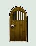 ドア_柵有り透過_鍵穴_木