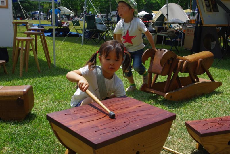 クラフトフェア☆木の楽器