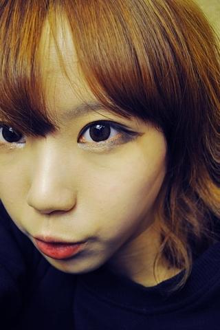 目尻長めの韓国女子。