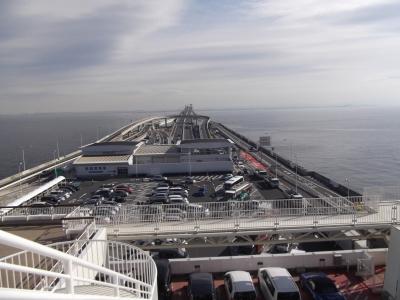 海ほたる展望台からの景色。