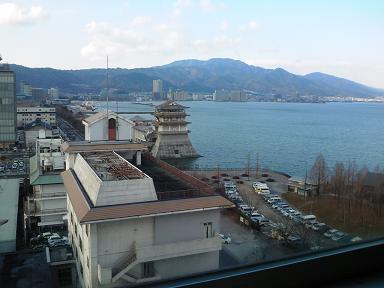 大津商工会議所会議室より琵琶湖を望む