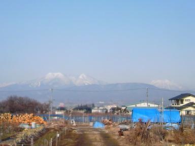 厳寒の飯綱山