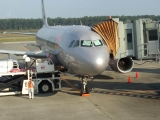 201410ジェットスターGK611熊本空港コックピットメッセージ