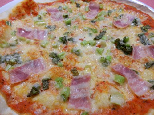 野沢菜ピザ