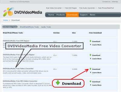 DVDVideoMedia Free Video Converter ダウンロード