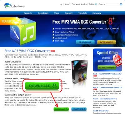 Free MP3 WMA OGG Converter ダウンロードページ