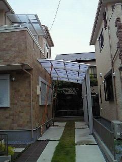 テラス屋根施工
