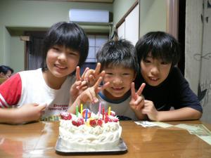 はるきの誕生日会