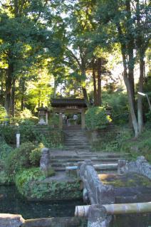 鎌倉道(戸塚):浄智寺門前