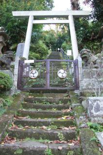 鎌倉道(戸塚):第六天神社石段