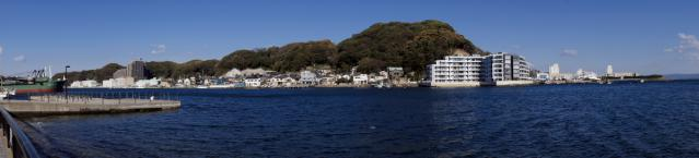 浦賀:船番所跡から入江パノラマ