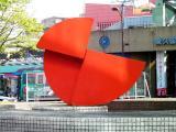 西武東久留米駅 my sky hole 94-樹の情景 噴水彫刻