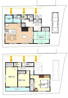 宅地4-1F-北側スペース2