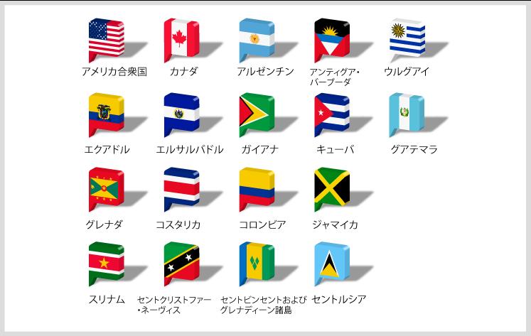 北米・中南米国旗