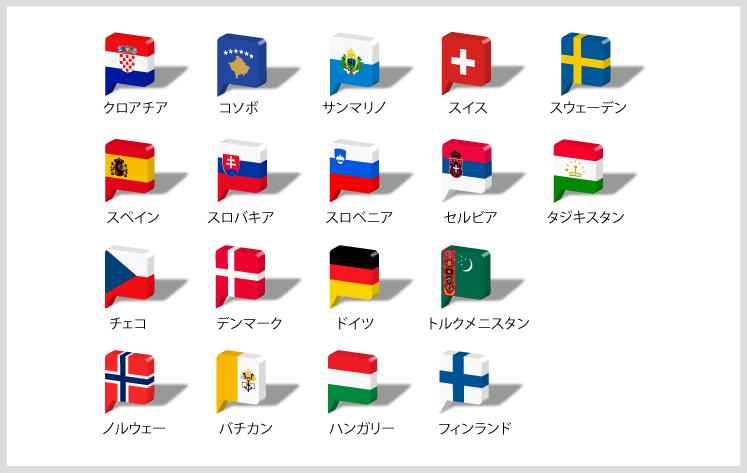 ヨーロッパ国旗2