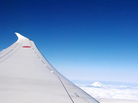 富士山B787より