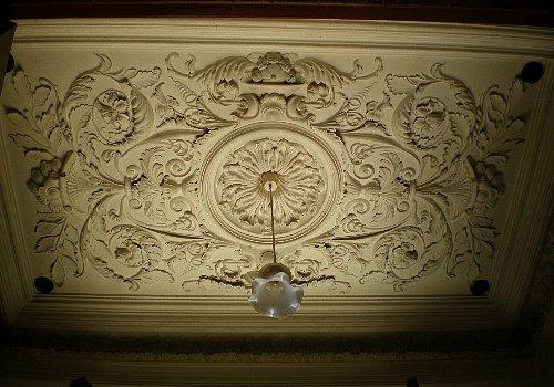中越銀行・玄関天井