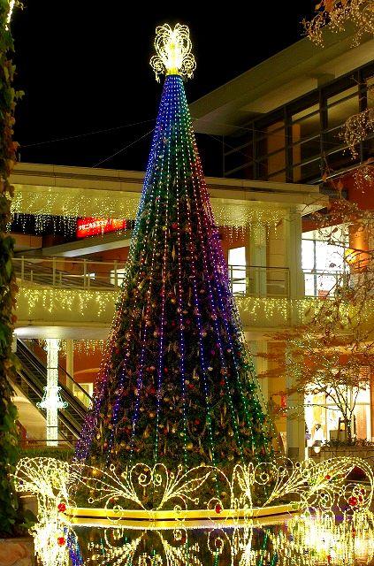 パークプレイス大分のクリスマスイルミネーション