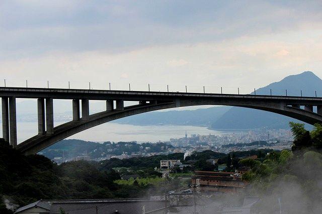 東洋一の石橋アーチ橋 明礬橋