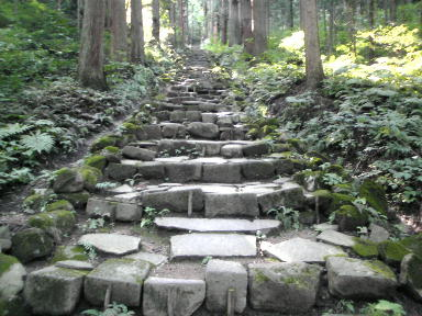 坂道の階段