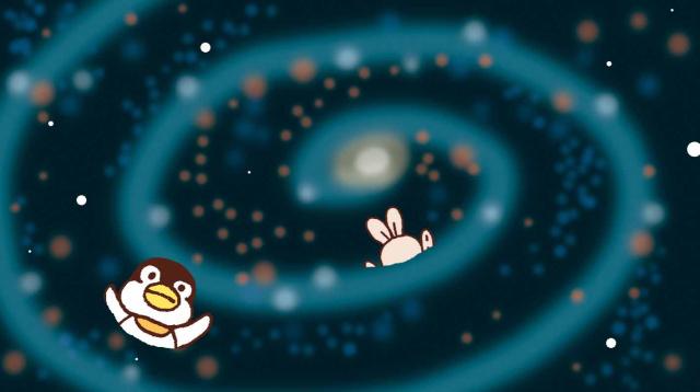 星雲にまかれる