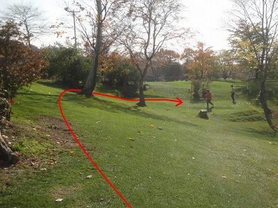 s-山根園PGC 里5H 3本の木の左から攻めるのが定石