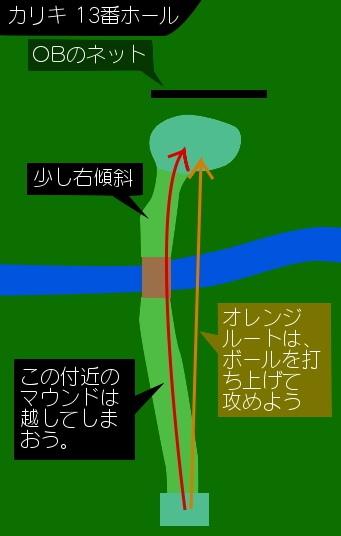 札幌市東区 王子ゴルフガーデン カリキIN 4H 図