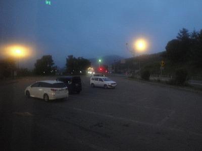 夜行バス 釧路行 浦幌でバス休憩