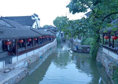 錦渓の舟遊び