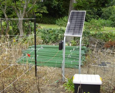 太陽光発電を充電中