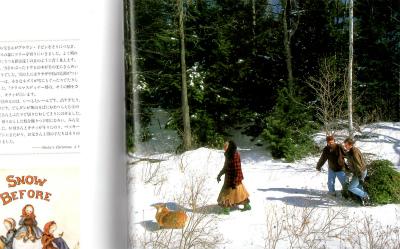 森からクリスマスツリーの切り出し