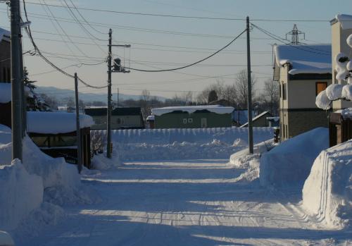 排雪された翌朝、スッキリ