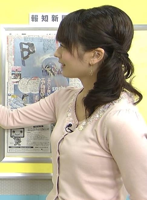 高見侑里 横乳 (めざましテレビ 20140208)キャプ画像(エロ・アイコラ画像)
