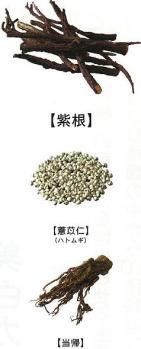 紫粋に含まれる主な和漢植物由来成分です