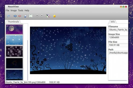 NeonView 0.8.1 Ubuntu 軽量画像ビューア