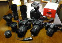 デジタル一眼レフのカメラたち